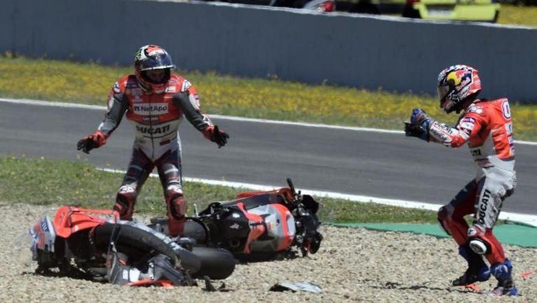 Andrea Dovizioso Tertawakan Momen Crash di Jerez