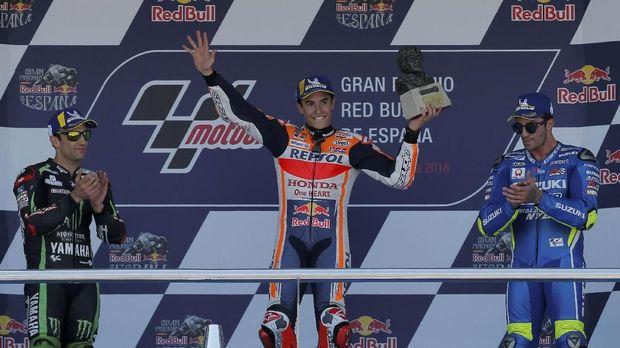Marc Marquez saat ini memimpin klasemen sementara MotoGP 2018.
