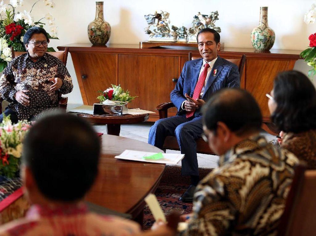 Pimpinan DPD Temui Presiden Jokowi di Istana Bogor