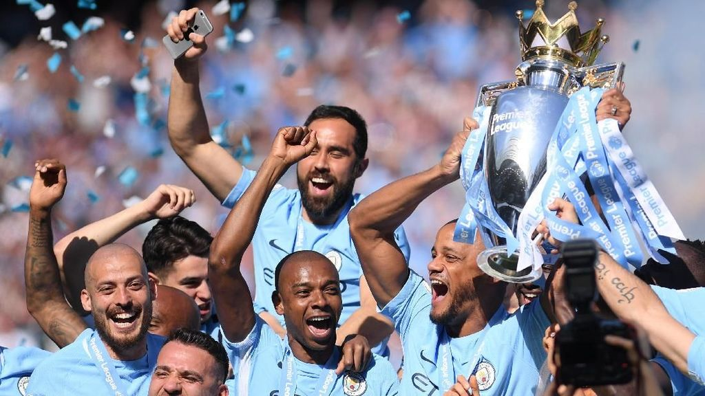 Sah! Manchester City Juara Premier League 2017/2018