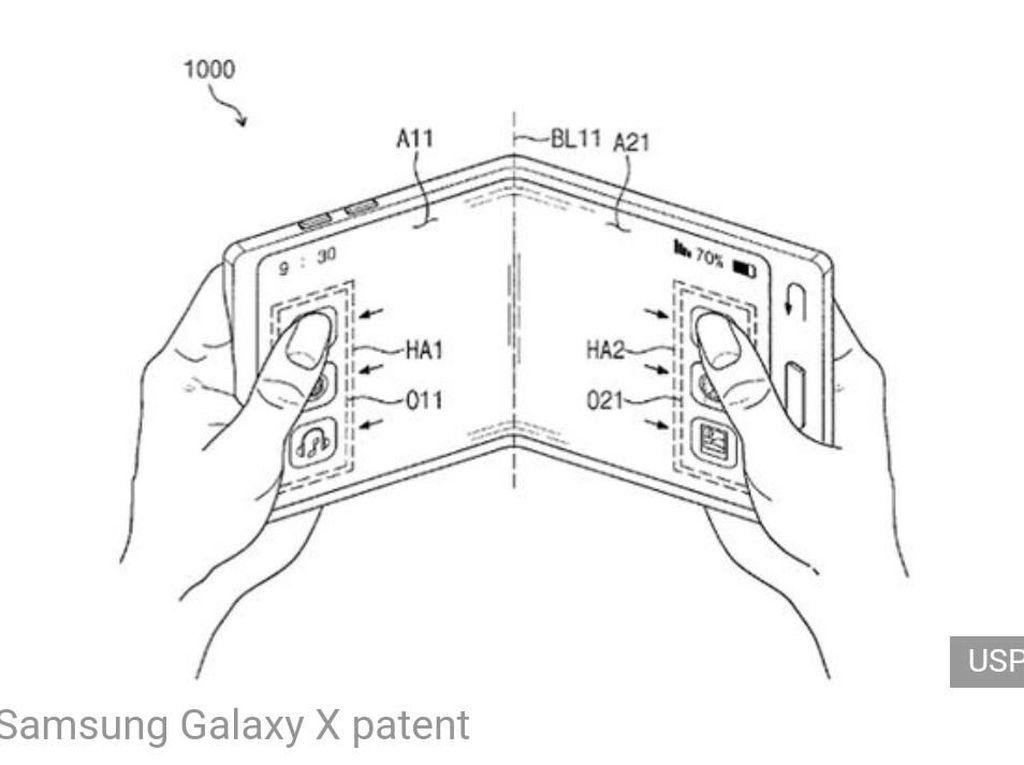 Ponsel Layar Lipat Samsung Meluncur Bulan Depan?
