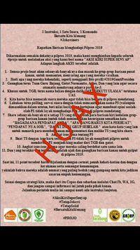 Projo: #AksiKiriSuperSenyap Hoax!