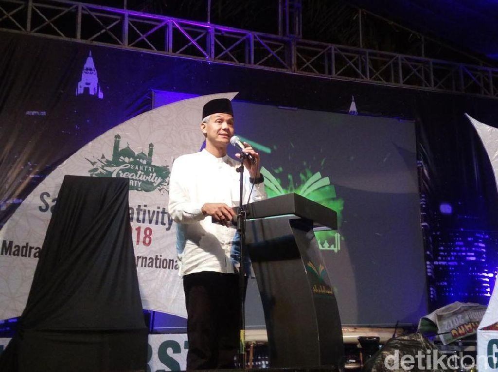 Hadiri Acara Santri, Ganjar Ditanya Soal Anggaran untuk Ponpes