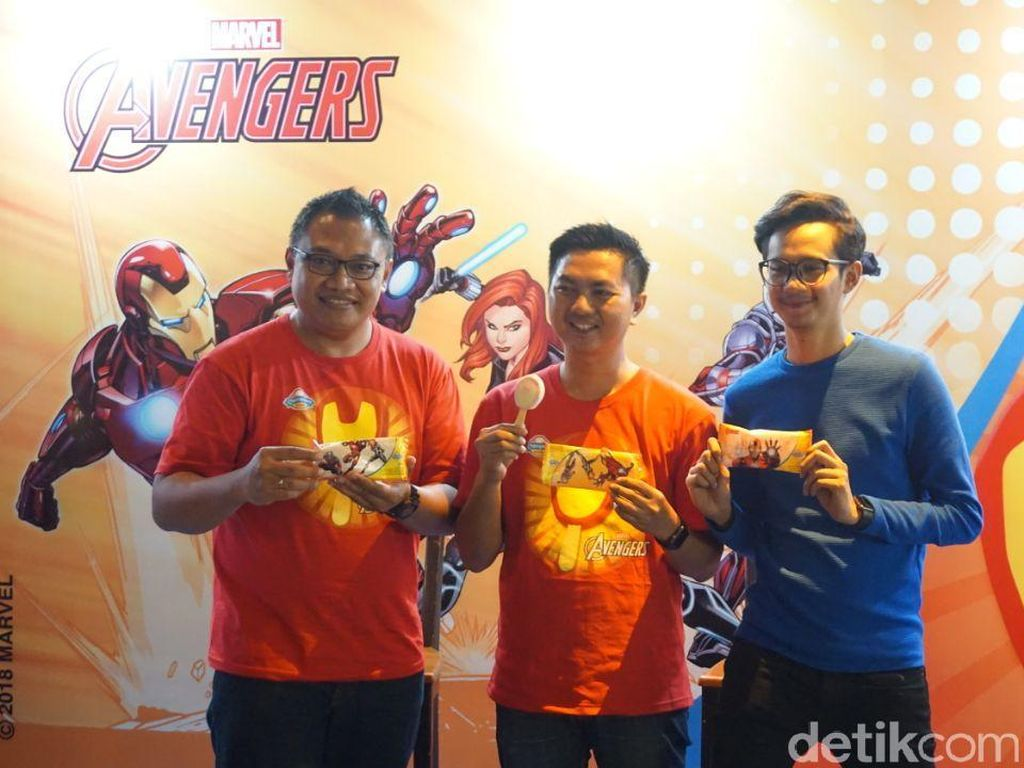 Penggemar Avengers, Rasakan Serunya Makan Es Krim Karakter Iron Man