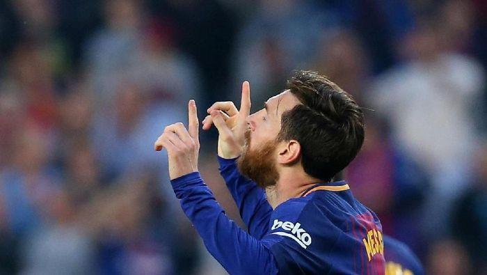 Messi tak pernah berambisi untuk menjadi yang terbaik. (Foto: Albert Gea/REUTERS)