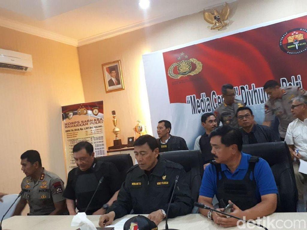 Wiranto: Kami Ultimatum Napi Teroris, Tak Ada Negosiasi
