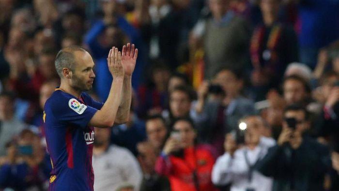 Andres Iniesta meninggalkan Barcelona di akhir musim. (Foto: Albert Gea/REUTERS)