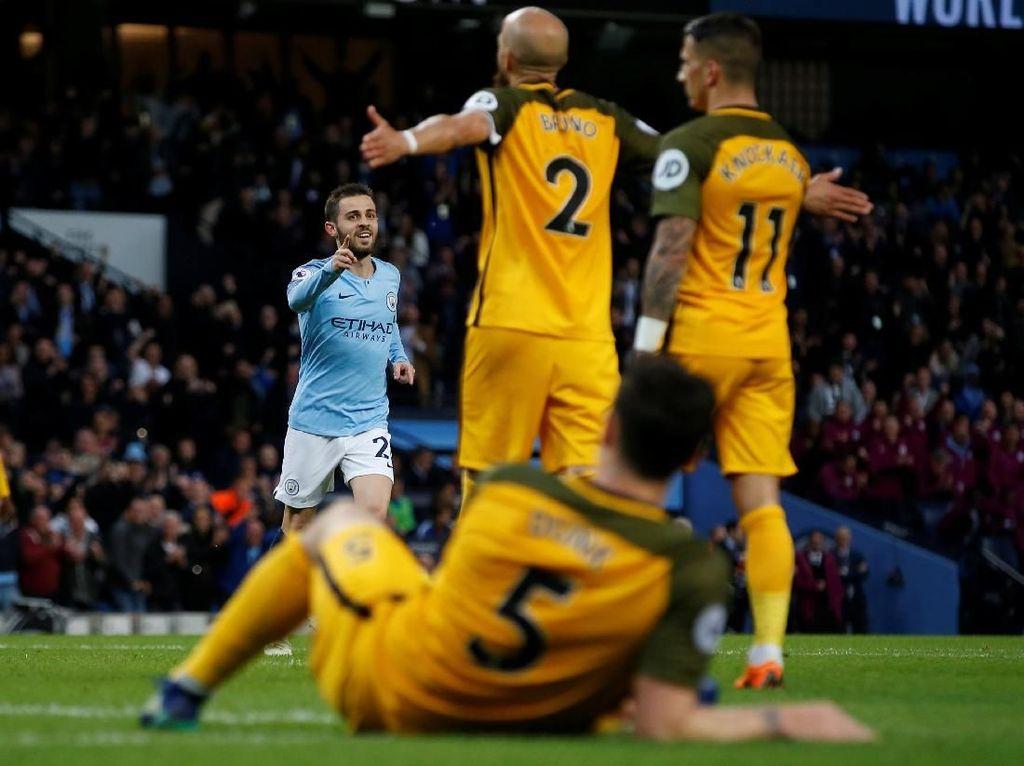 City Sementara Memimpin 2-1 atas Brighton