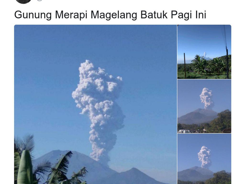 Foto-foto Letusan Merapi yang Diabadikan Netizen