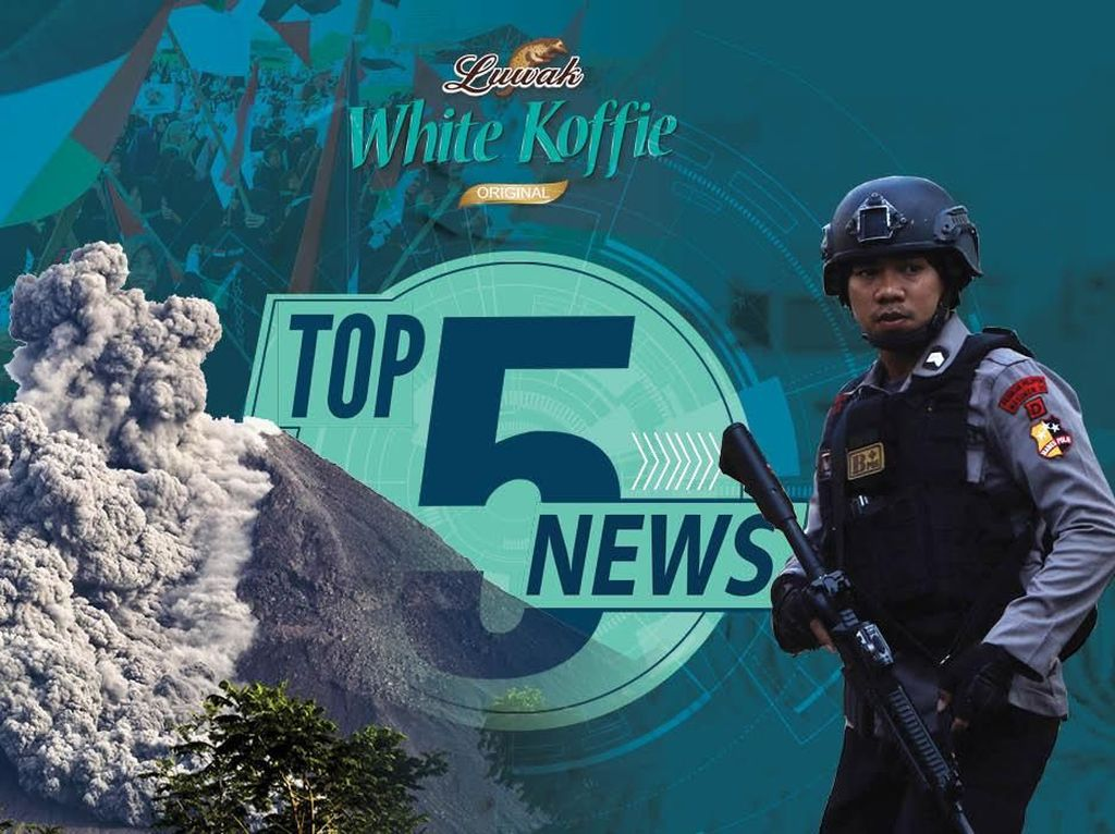 Letusan Freatik Gunung Merapi, Polisi Tewas Ditusuk di Mako Brimob
