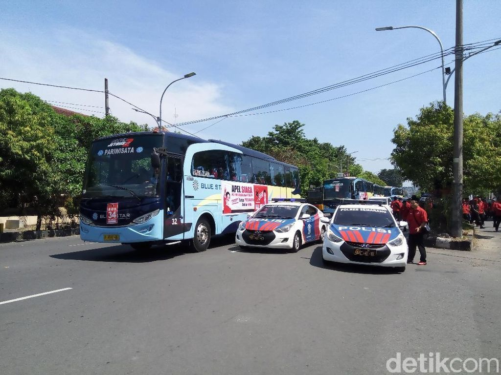 Ada Apel Siaga PDIP se-Jateng, Jalan Sekitar Manahan Solo Ditutup