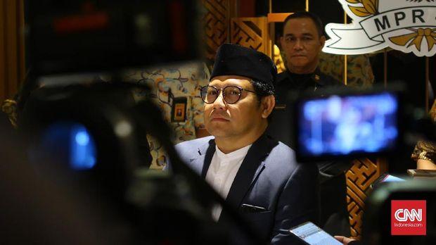 Ketua Umum PKB Muhaimin Iskandar alias Cak Imin, di Jakarta, Jumat (11/5).