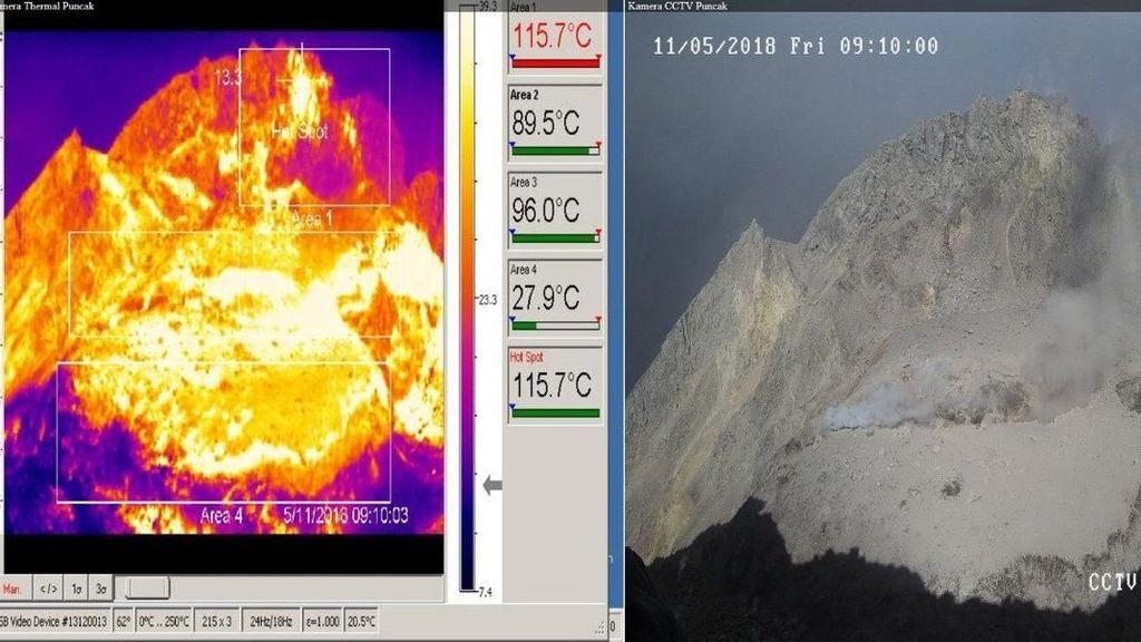 Foto: Kawah Gunung Merapi Usai Letusan Freatik