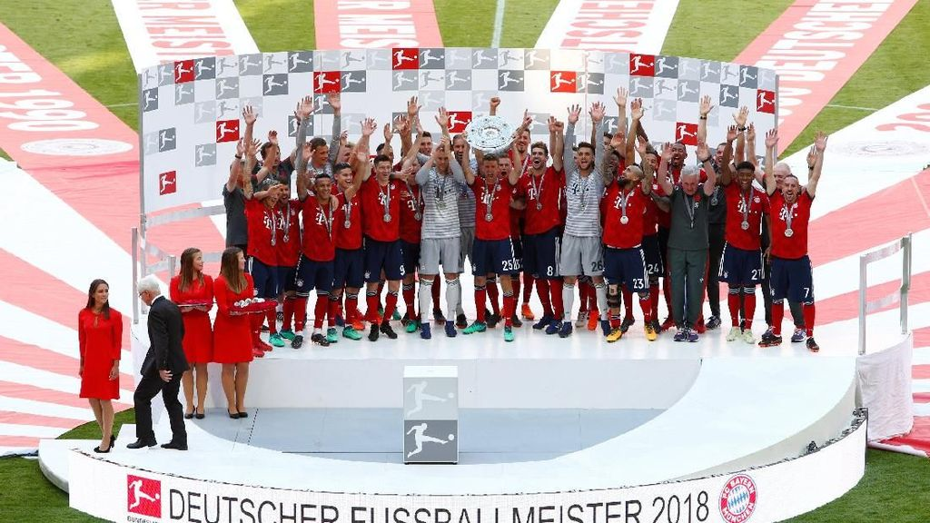 Pesta Juara Bayern di Allianz Arena