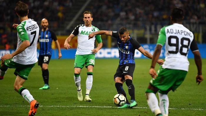 Inter Milan dikalahkan Sassuolo 1-2 dalam lanjutan Liga Italia (Foto: Valerio Pennicino/Getty Images)