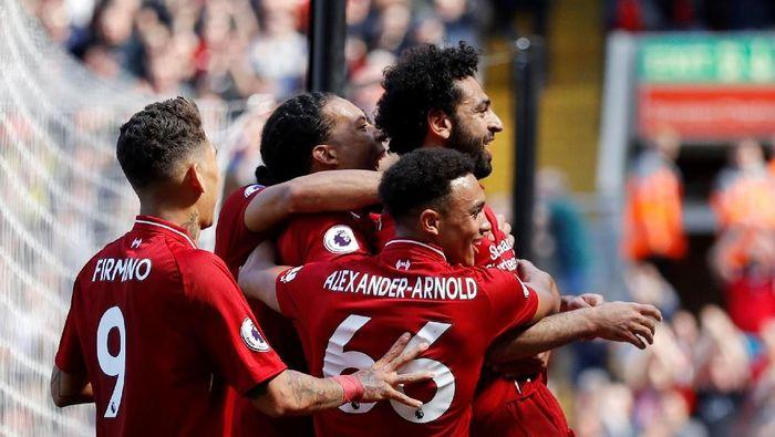 Pemain-pemain Liverpool. (Foto: Phil Noble/Reuters)