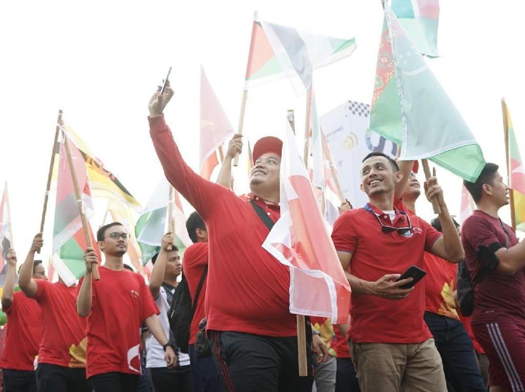 Telkomsel Ikut Meriahkan Parade Asian Games 2018