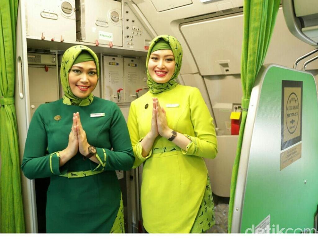 Foto: Seragam Baru Pramugari Citilink, Ada yang Pakai Hijab