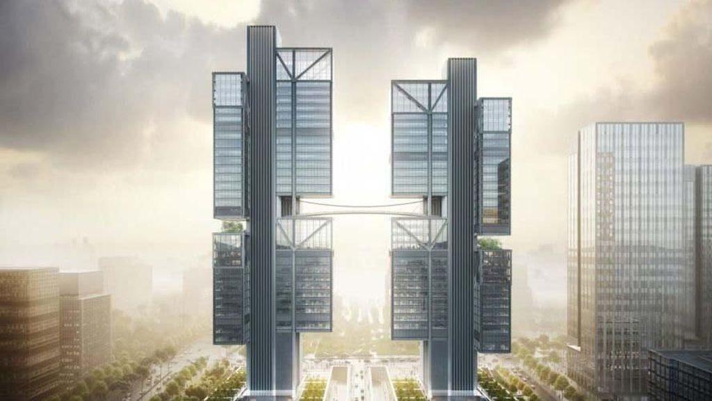 Melihat Menara Kembar Markas Produsen Drone DJI