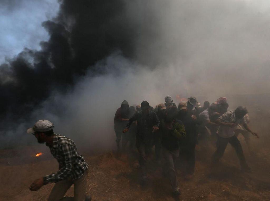 8 Anak Palestina Tewas saat Protes Kedubes AS di Yerusalem