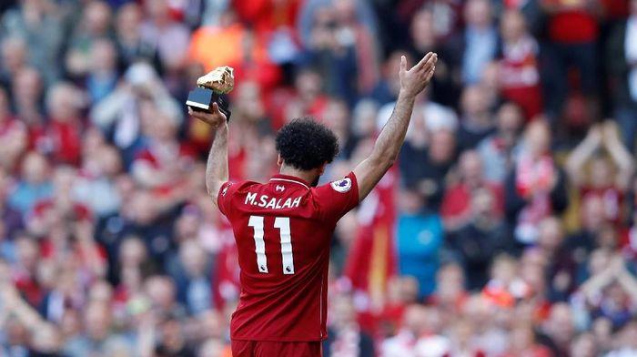 Mohamed Salah banyak bikin gol dan membuat citra Islam menjadi positif di Inggris (Reuters/Carl Recine)