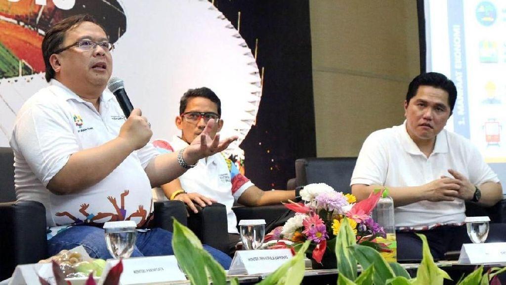 Bambang Brodjo Hingga Sandiaga Diskusi Menghitung Dampak Ekonomi Asian Games