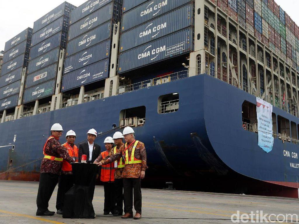 Ini Kapal Raksasa yang Dilepas Jokowi ke AS