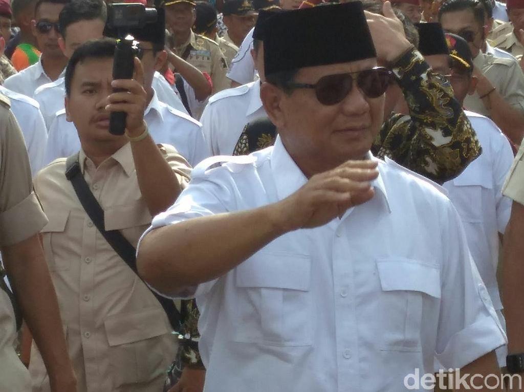 Prabowo Dukung Revisi UU Antiterorisme