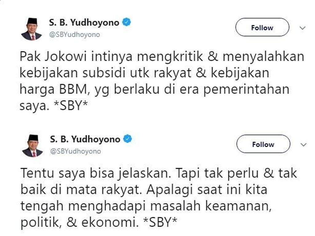 Deretan Pertanyaan Kocak Netizen Minta #SBYJelaskan