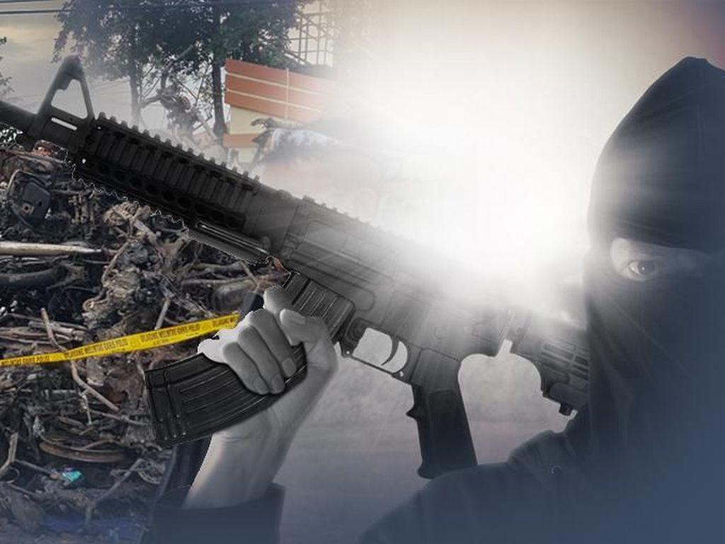 Densus 88 Amankan Pria Terduga Teroris di Indramayu