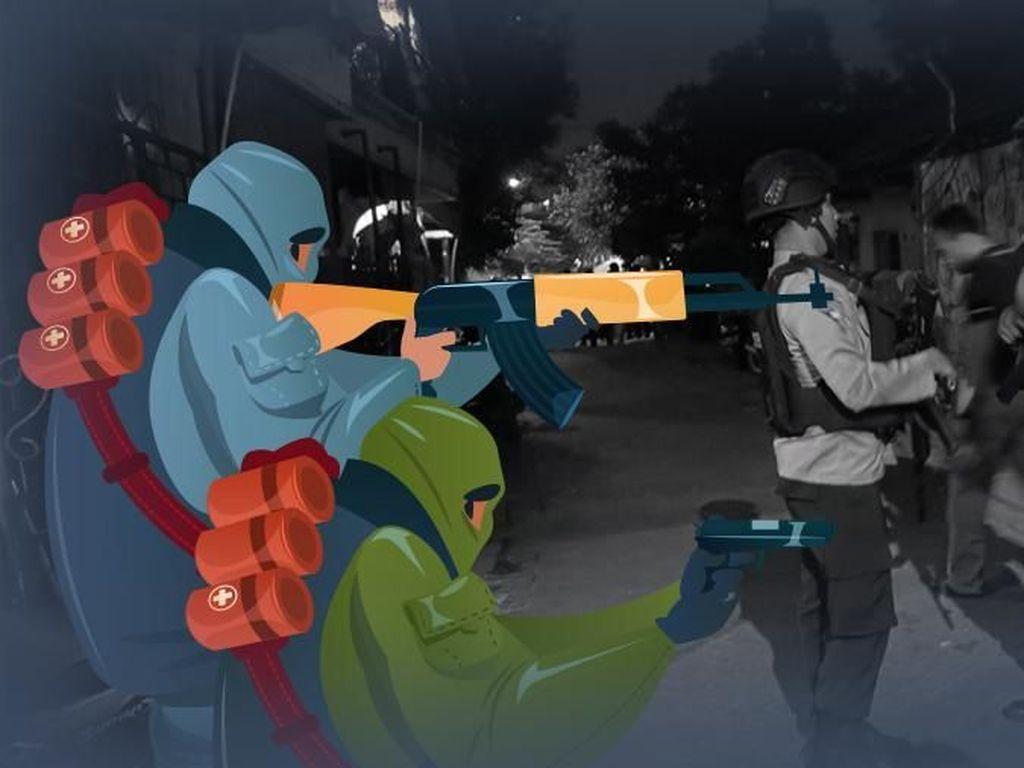 Terduga Teroris Diringkus di Lampung Jelang Pelantikan Presiden