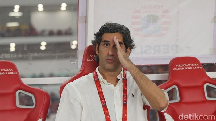 Pelatih Persija Jakarta Stefano Cugurra Teco. (Foto: detikSport/Grandyos Zafna Manase)