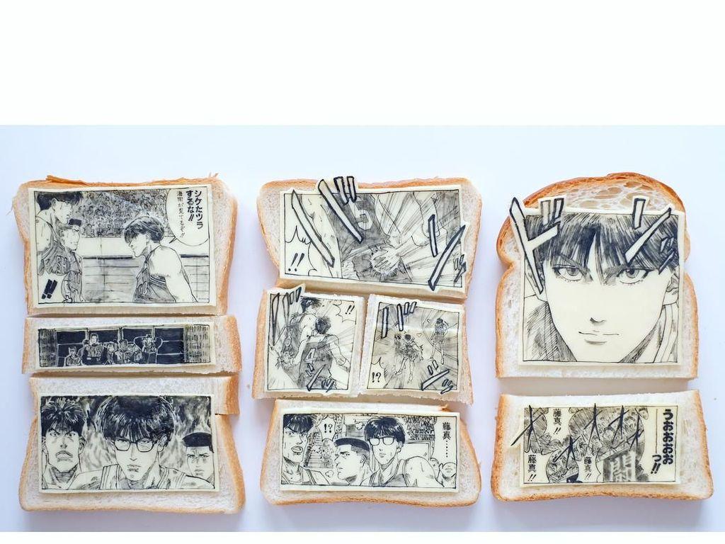 Keren Banget! Seniman Ini Buat Komik di Atas Roti Panggang