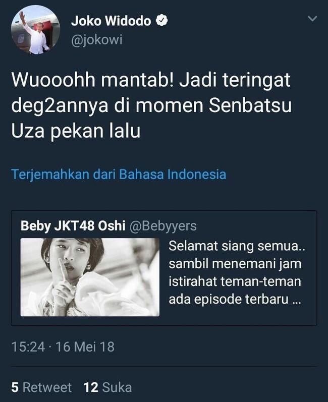 Lagi-Lagi Admin Akun Twitter @jokowi Salah Twit, Akhirnya Segera Dihapus
