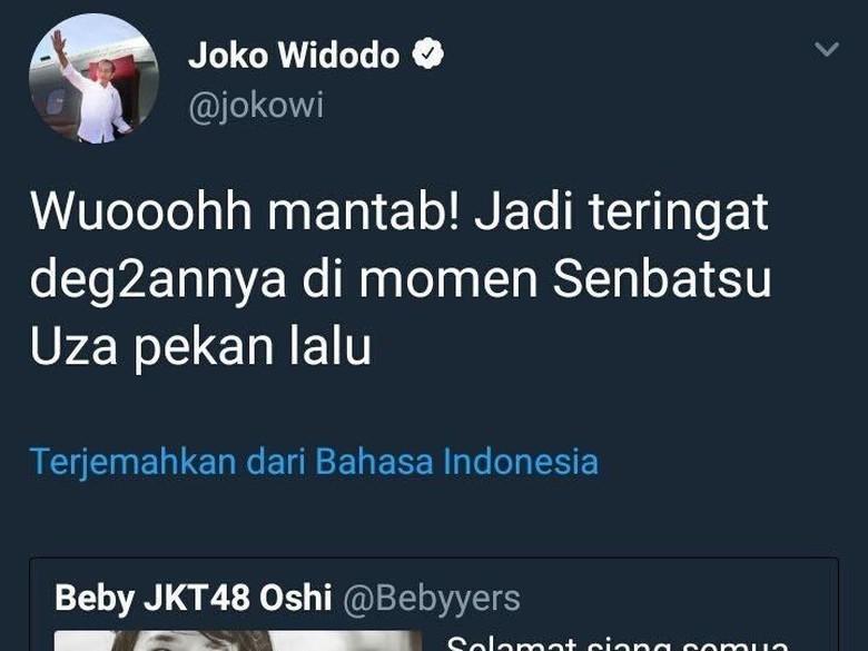 Apa Itu Senbatsu 'Uza' JKT48 yang Dikicaukan Akun Jokowi?