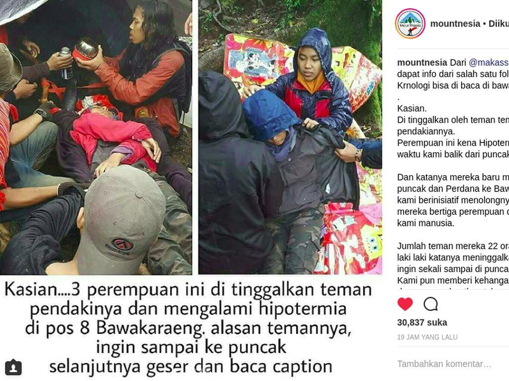 Pendaki Meninggal Ditinggal Rombongan, KSDA Sulsel: Sedang Dicek