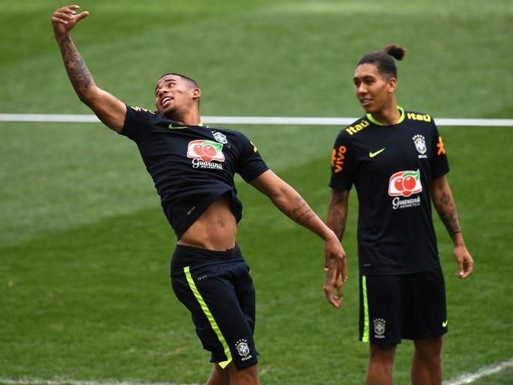 Brasil vs Belgia: Tite Pilih Gabriel Jesus atau Firmino?