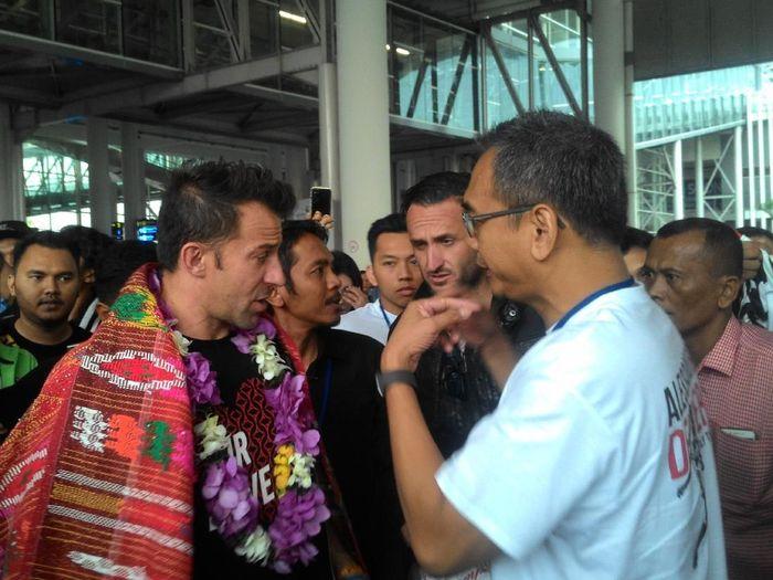 Alessandro Del Piero berkunjung ke Kota Medan (Abi Hasantoso/detikSport)