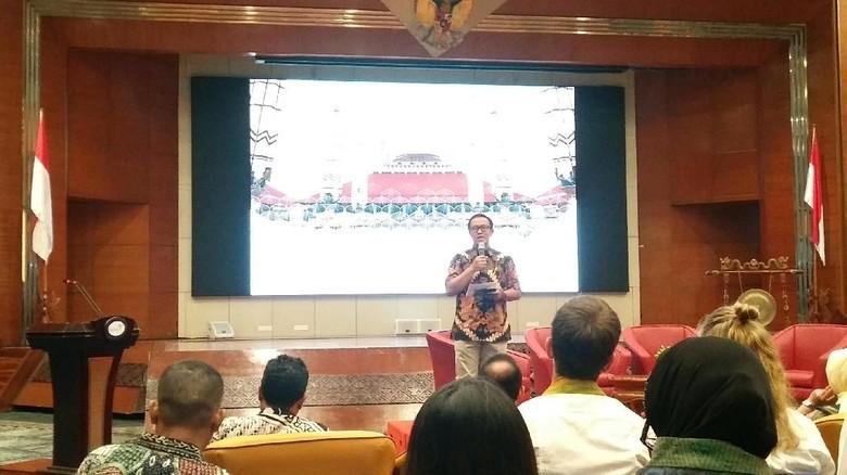 Foto:Staf Khusus Menteri Bidang Komunikasi Kemenpar, Muhammad Nur Sadono jelang peluncuran Pesona Wisata Ramadhan (Randy/detikTravel