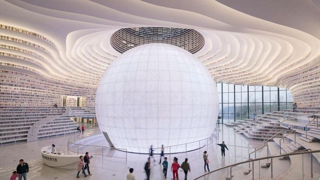 Kerennya Perpustakaan di China yang Mirip Stasiun Luar Angkasa