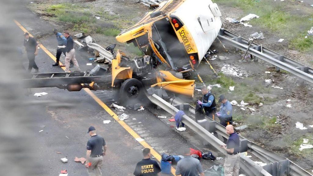 Kecelakaan Bus Sekolah di New Jersey Tewaskan 2 Orang