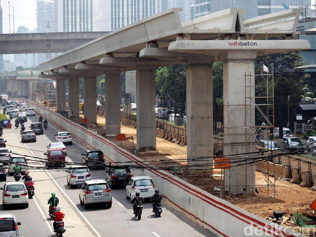 Pembebasan Lahan untuk Proyek LRT Jabodebek Capai 80%