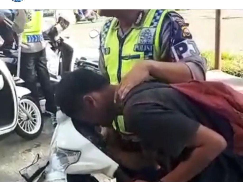 Pemotor Kesurupan saat Ditilang, Korlantas: Kalau Salah, Ngaku!