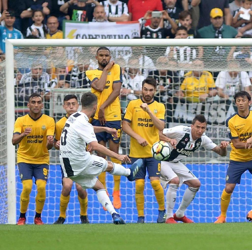 Juventus Kalahkan Verona di Laga Perpisahan Buffon