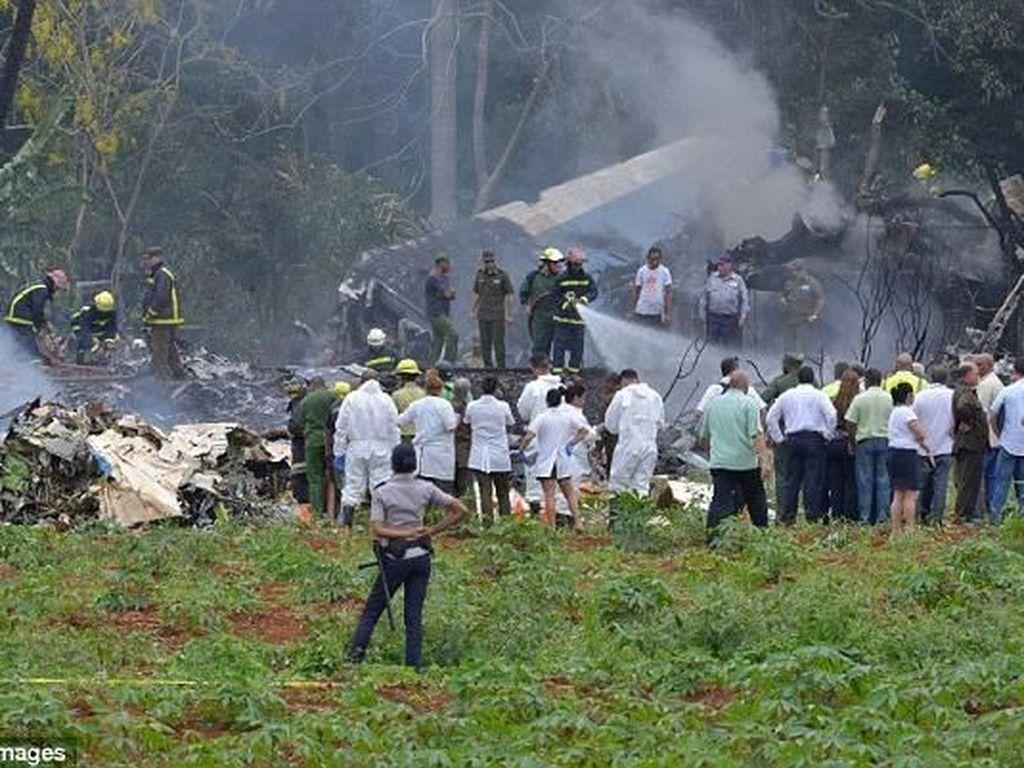 Ada 5 Kru Asal Meksiko di Pesawat yang Jatuh di Havana