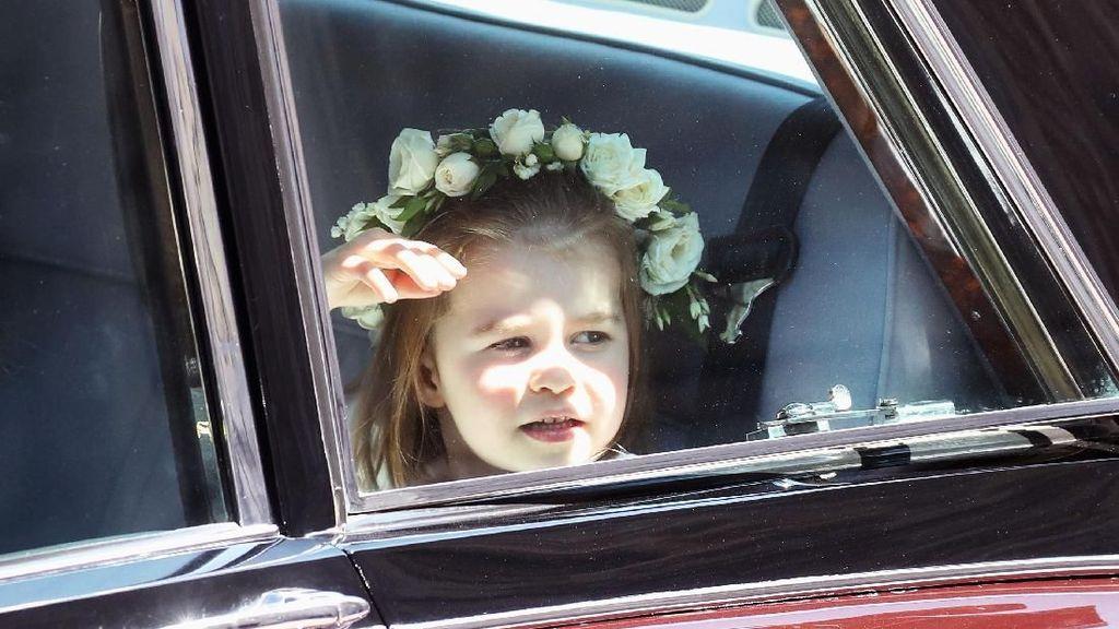 Ekspresi Ceria Putri Charlotte di Pernikahan Pangeran Harry