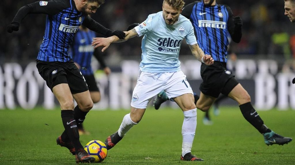 Panasnya Duel Biru di Ibukota: Lazio vs Inter, Immobile vs Icardi
