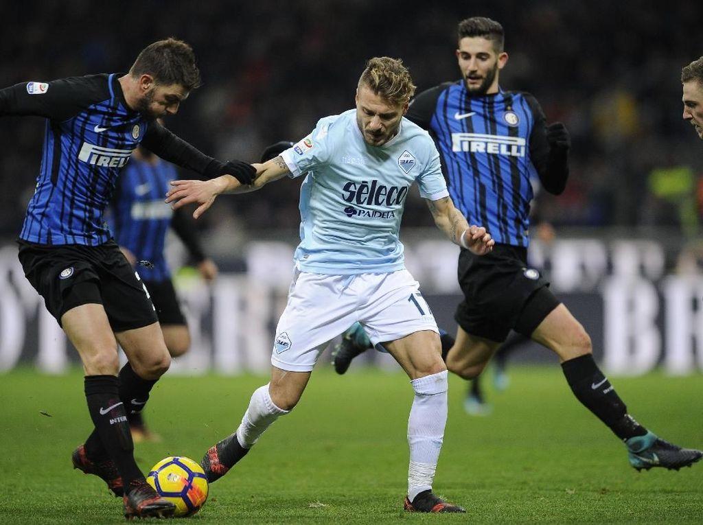 Panasnya Duel Biru di Ibukota: Lazio vs Inter, Immobile vs Icardi