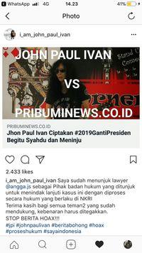 Bantahan John Paul Ivan.