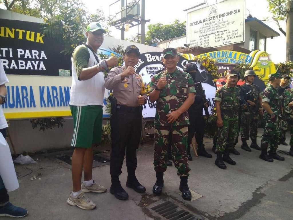 Kondisi Surabaya Aman, Penjagaan Gereja Tetap Diperketat
